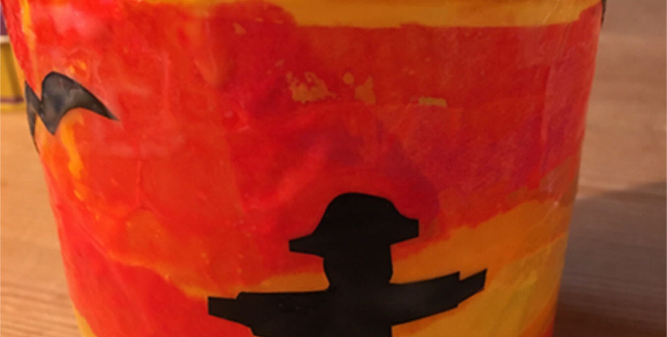 Craft scarecrow lantern