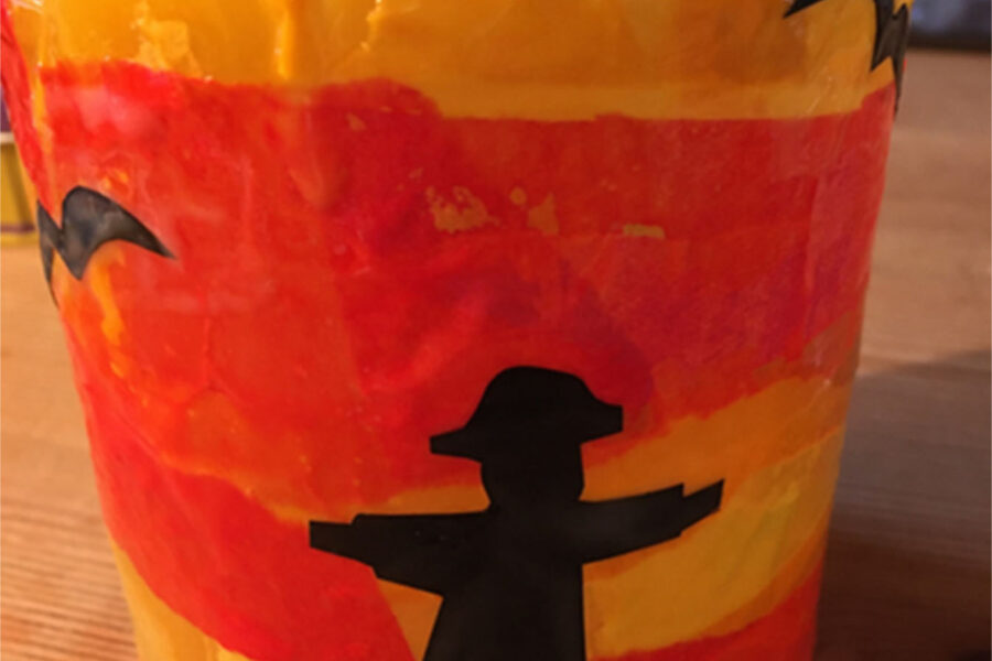 Craft scarecrow lantern