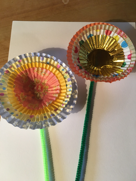 Funky and colourful paper flowers