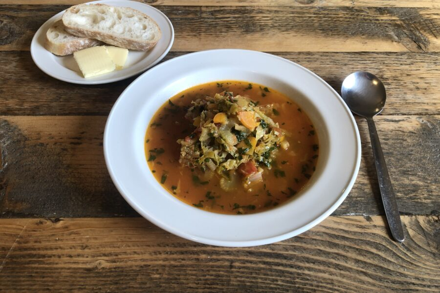 Kettlewell Hostel minestrone soup