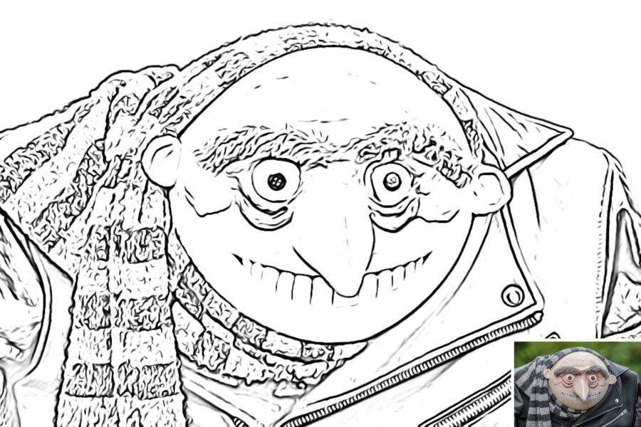 Gru colouring sheet preview