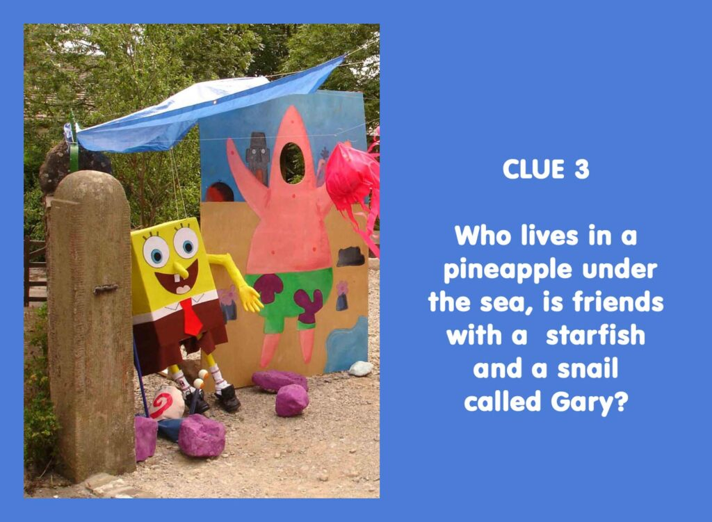 Who lives in a pineapple under the sea, is friends with a starfish and a snail called Gary?
