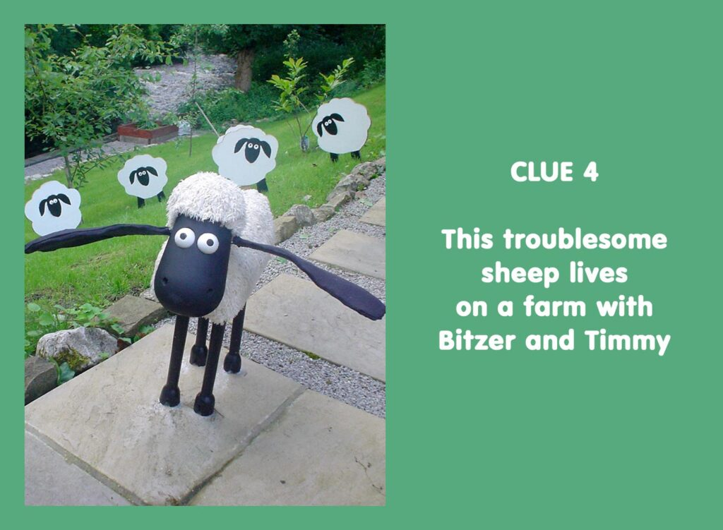 This troublesome sheep lives on a farm with Bitzer and Timmy